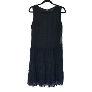 Tommy Hilfiger Black Lace Cocktail Dress 10 NWT